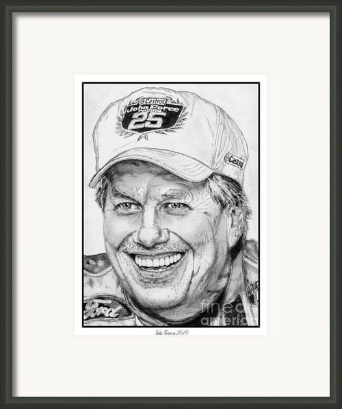 John Force In 2010 Framed Print By J Mccombie