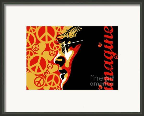 John Lennon Imagine Framed Print By Sassan Filsoof