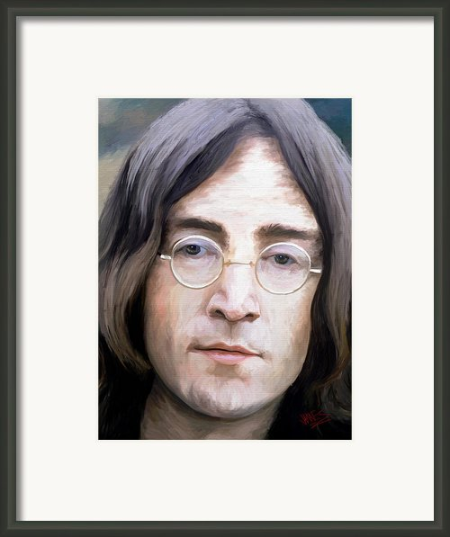 John Lennon Framed Print By James Shepherd