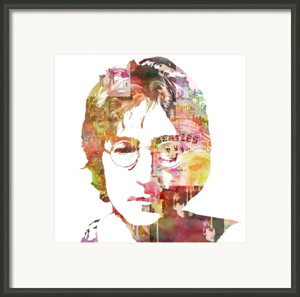 John Lennon Framed Print By Mike Maher