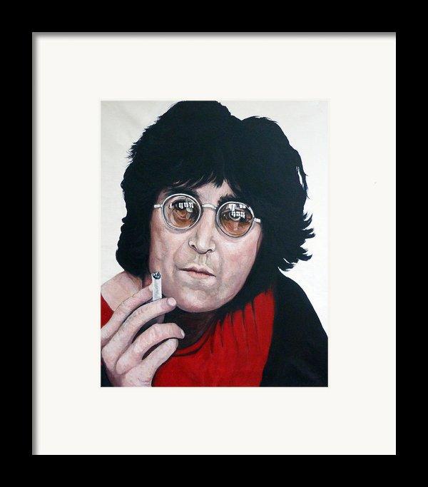 John Lennon Framed Print By Tom Roderick
