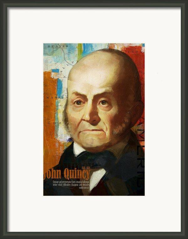 John Quincy Adams Framed Print By Corporate Art Task Force