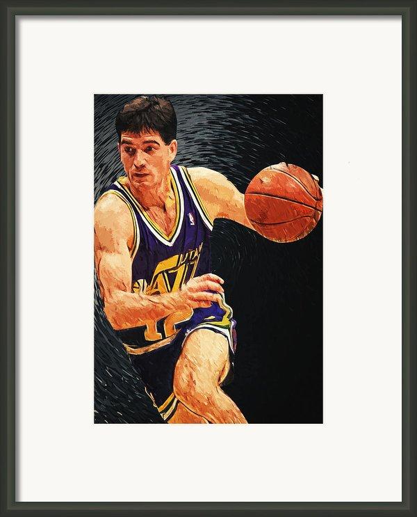 John Stockton Framed Print By Taylan Soyturk