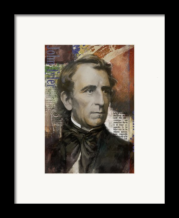 John Tyler Framed Print By Corporate Art Task Force
