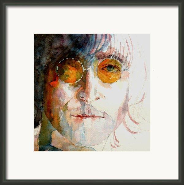 John Winston Lennon Framed Print By Paul Lovering