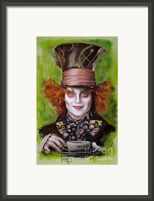 Johnny Depp As Mad Hatter Framed Print By Melanie D