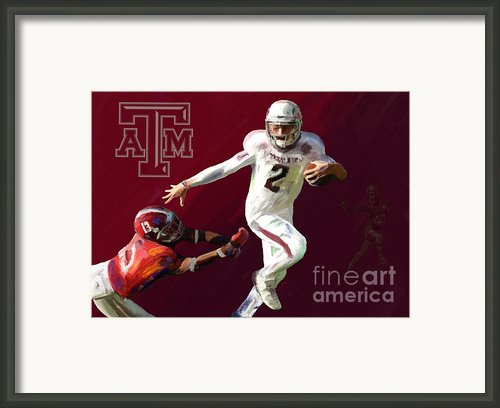 Johnny Football Framed Print By Gcannon