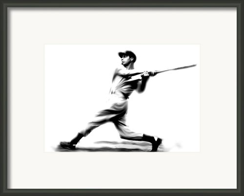 Joltin Joe Dimaggio  Joe Dimaggio Framed Print By Iconic Images Art Gallery David Pucciarelli