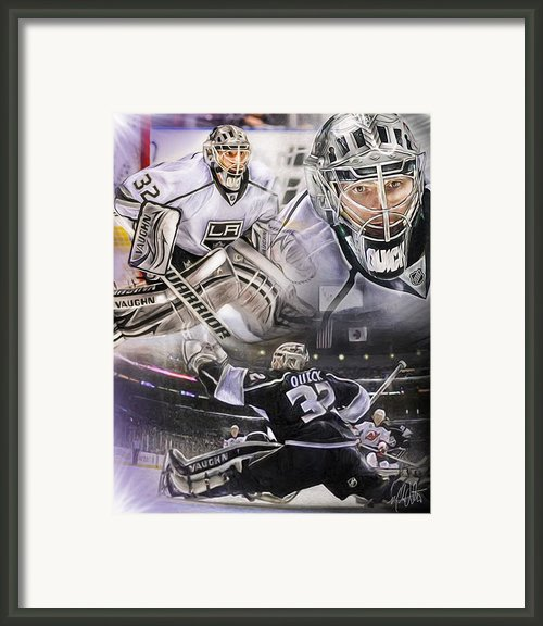 Jonathan Quick Collage Framed Print By Mike Oulton