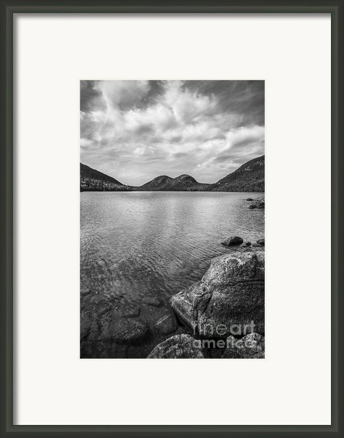 Jordan Pond Acadia National Park Maine. Framed Print By Diane Diederich