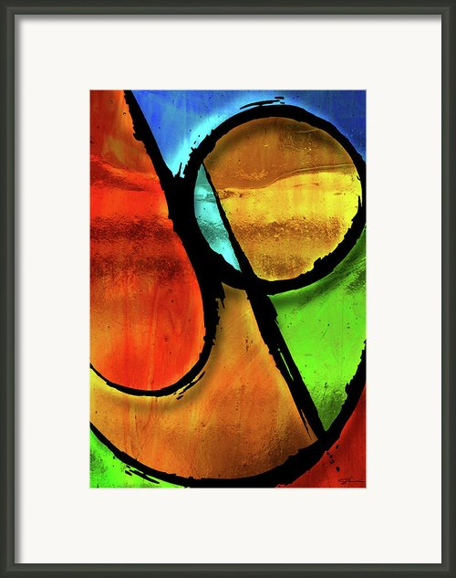 Joy-abstract Framed Print By Shevon Johnson