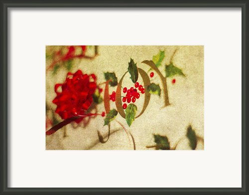 Joy Framed Print By Rebecca Cozart