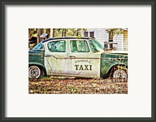 Juarez Taxi Framed Print By Scott Pellegrin