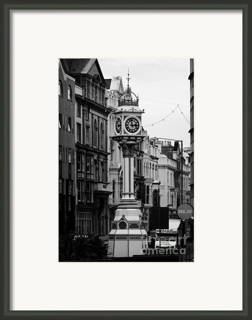 Jubilee Clock For Queen Victorias Golden Jubilee Douglas Isle Of Man Framed Print By Joe Fox