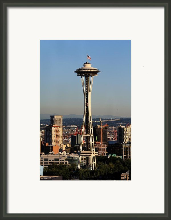 July 4th Needle Framed Print By Benjamin Yeager