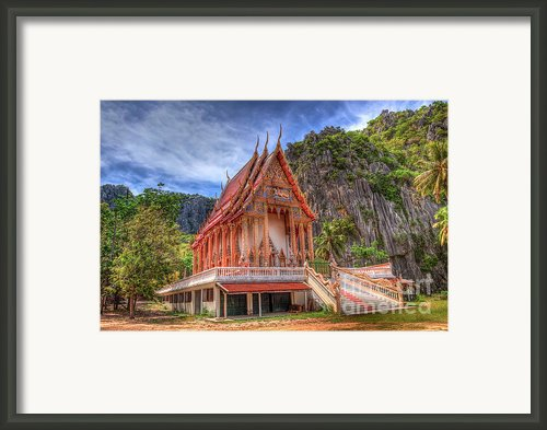 Jungle Temple V2 Framed Print By Adrian Evans