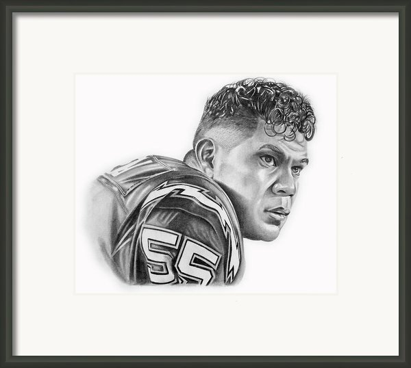 Junior Seau Framed Print By Don Medina