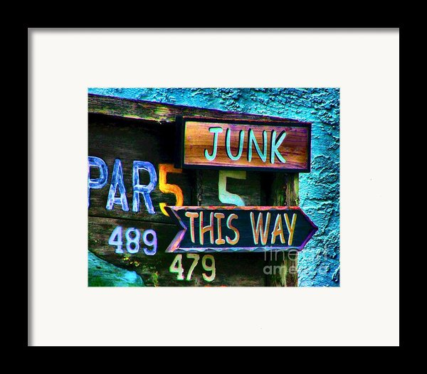 Junk This Way Framed Print By Julie Dant
