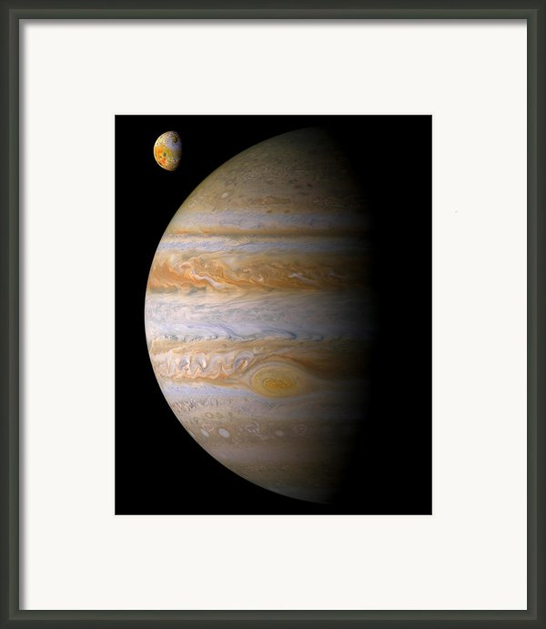 Jupiter And Io Framed Print By Bill  Wakeley