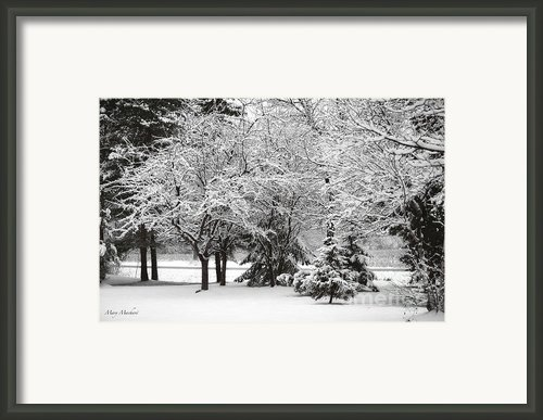 Just After A Snowfall Framed Print By Mary Machare