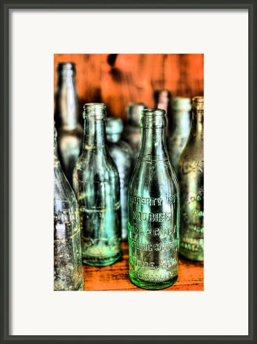 Just Bottles  Framed Print By Jc Findley