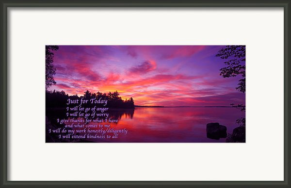 Just For Today 2 Framed Print By Bill Caldwell -        Abeautifulsky Photography