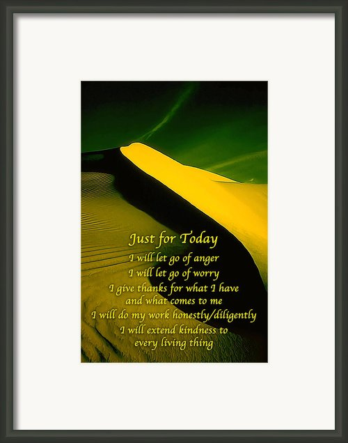 Just For Today 6 Framed Print By Abeautifulsky  Photography
