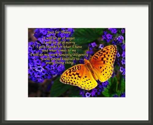 Just For Today 8 Framed Print By Abeautifulsky  Photography