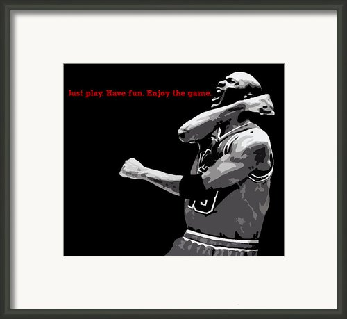 Just Play Framed Print By Mike Maher