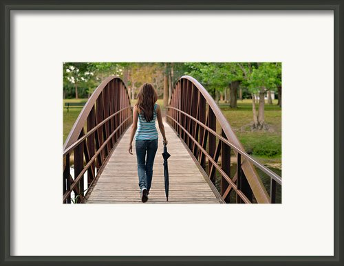 Just Walk Away Renee Framed Print By Laura  Fasulo