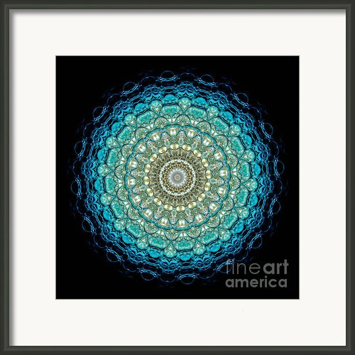 Kaleidoscope Aquamarine Bubbles Framed Print By Amy Cicconi