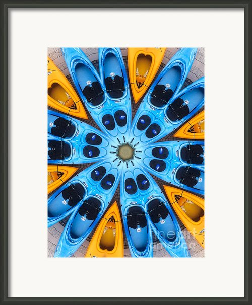 Kaleidoscope Canoes Framed Print By Amy Cicconi