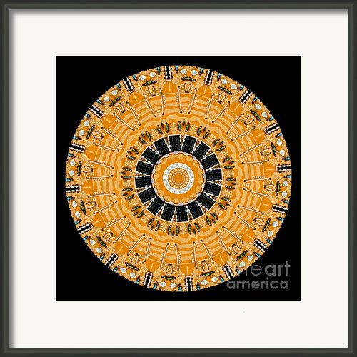 Kaleidoscope Of Computer Circuit Board Framed Print By Amy Cicconi