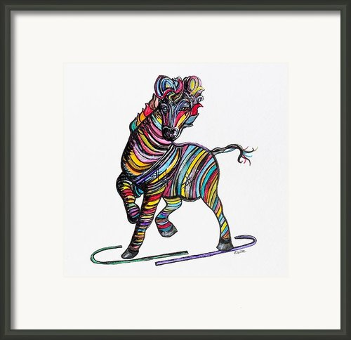 Kaleidoscope Zebra -- Baby Strut Your Stuff  Framed Print By Eloise Schneider