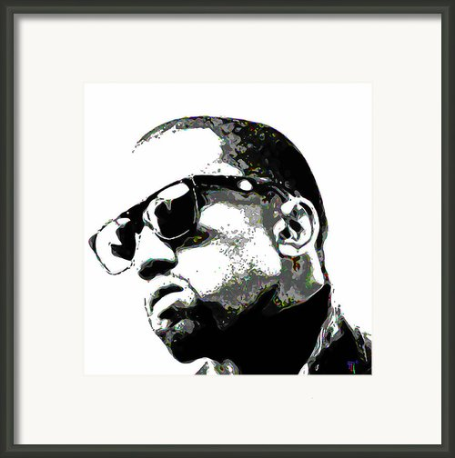 Kanye West Framed Print By Byron Fli Walker