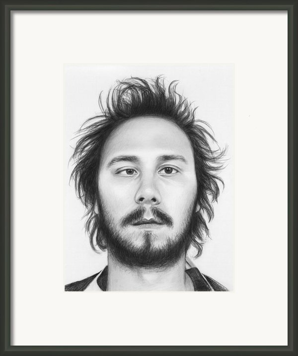 Karl - Workaholics Framed Print By Olga Shvartsur