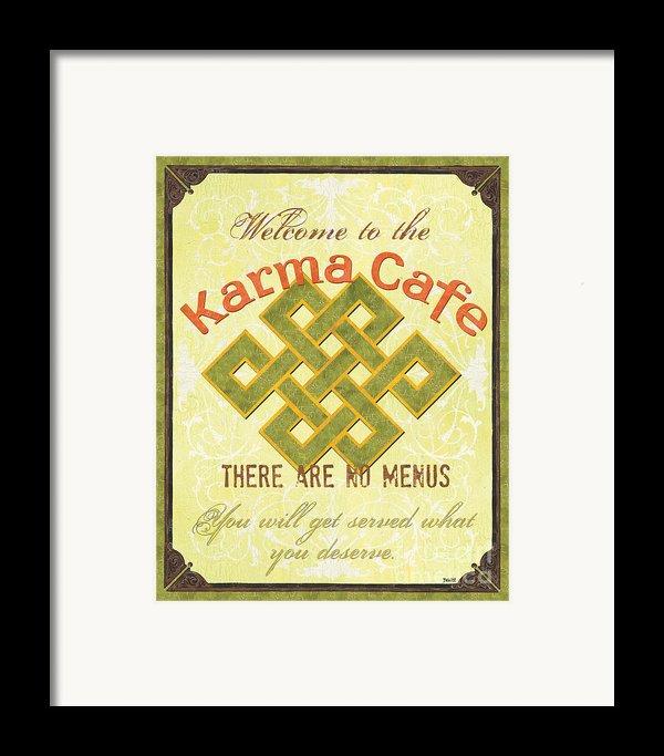 Karma Cafe Framed Print By Debbie Dewitt