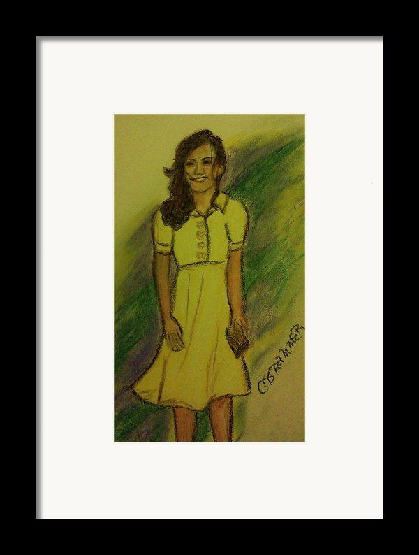 Kate Middleton Framed Print By Christy Saunders Church