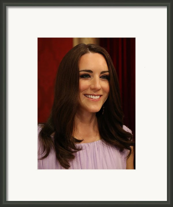 Kate Middleton Duchess Of Cambridge Framed Print By Lee Dos Santos