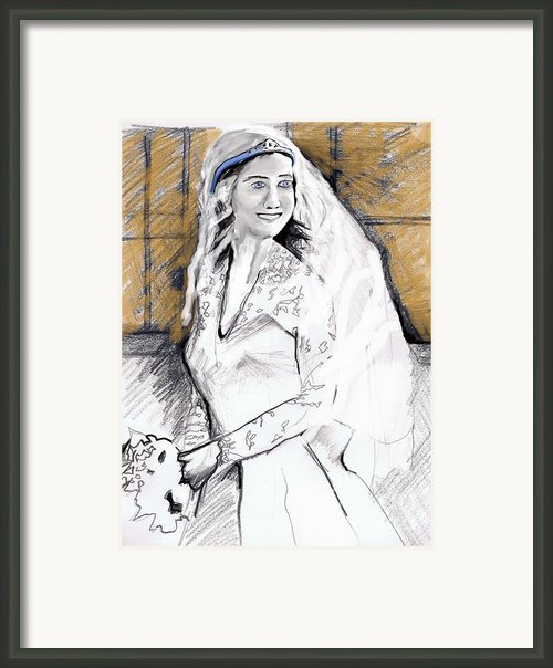 Kate Middleton Framed Print By Eric  Schiabor