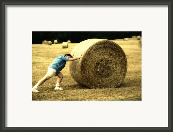 Keep Pushing Framed Print By Karol  Livote