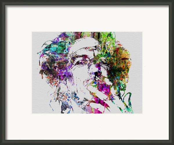Keith Richards Framed Print By Irina  March