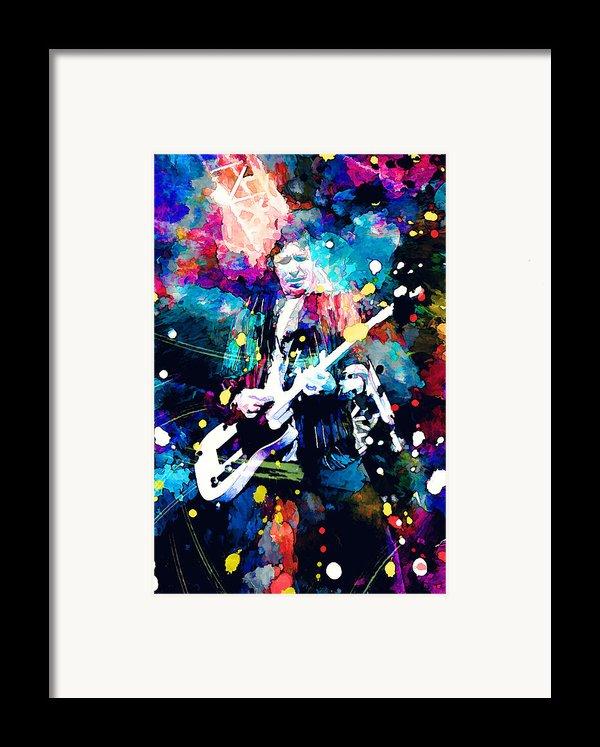 Keith Richards Framed Print By Rosalina Atanasova