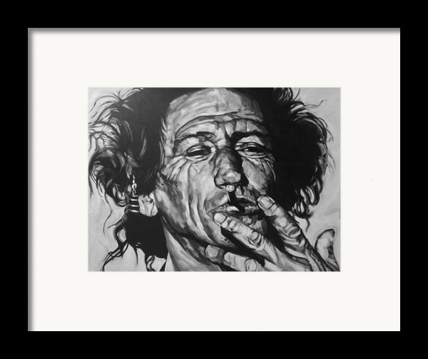 Keith Richards Framed Print By Steve Hunter