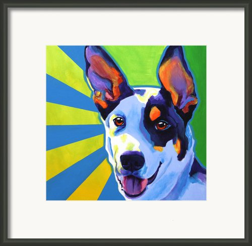 Kelpie - Oakey Framed Print By Alicia Vannoy Call