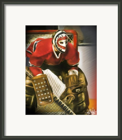 Ken Dryden Framed Print By Mike Oulton