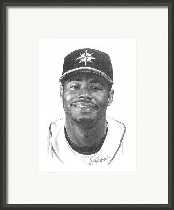 Ken Griffey Jr Framed Print By Harry West