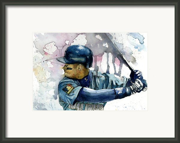 Ken Griffey Jr. Framed Print By Michael  Pattison