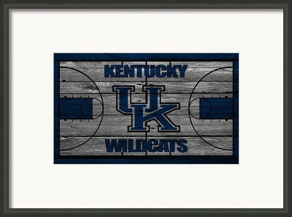 Kentucky Wildcats Framed Print By Joe Hamilton