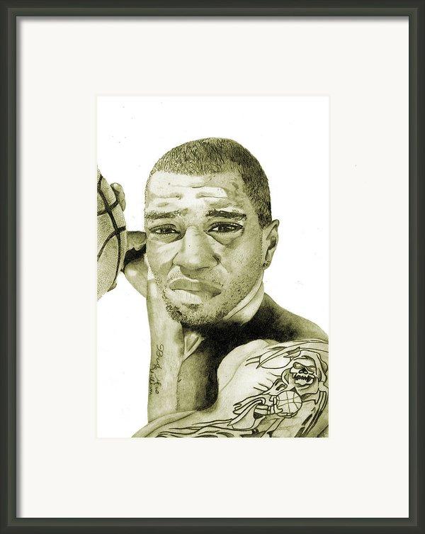 Kenyon Martin Framed Print By Michael  Pattison